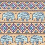 Elefante étnico inconsútil ilustración del vector