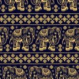 Elefante étnico inconsútil libre illustration