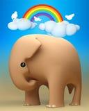 elefante 3D un il giorno felice all'aperto Fotografia Stock