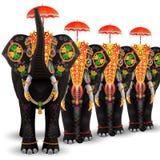 Elefante adornado de la India del sur stock de ilustración