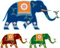 Elefante adornado indio ilustración del vector