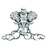 Elefante africano illustrazione di stock