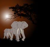 Elefante africano ilustração stock