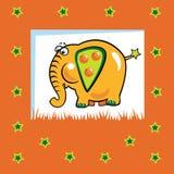 Elefante al gusto di frutta Fotografie Stock Libere da Diritti