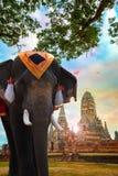 Elefante al tempio di Wat Chaiwatthanaram nel parco storico di Ayuthaya, un sito del patrimonio mondiale dell'Unesco Fotografia Stock