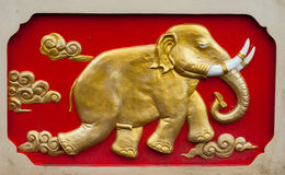 Elefante-alivio de la pared Imagenes de archivo