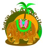 Elefante amarillo Fotografía de archivo libre de regalías