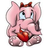 Elefante amoroso stock de ilustración
