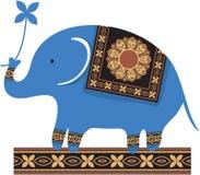 Elefante azul lindo stock de ilustración