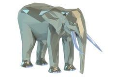 Elefante bajo polivinílico Imagen de archivo