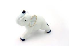 Elefante bianco della porcellana Immagini Stock