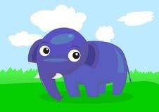 Elefante blu illustrazione di stock