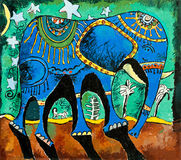 Elefante blu illustrazione di stock