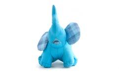 Elefante blu di seta della bambola Immagini Stock