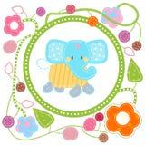 Elefante blu dolce illustrazione vettoriale