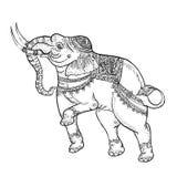Elefante branco, arte tailandesa tradicional Imagem de Stock Royalty Free