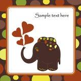 Elefante colorido de la diversión Foto de archivo libre de regalías