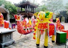 Elefante colorido del festival Fotos de archivo