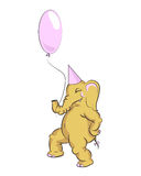 Elefante com bola Fotografia de Stock