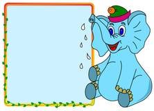Elefante com caixa de mensagem Ilustração Stock