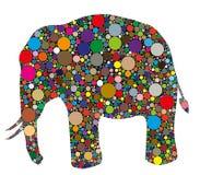 Elefante composto das cores ilustração royalty free
