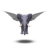 Elefante con alas ilustración del vector