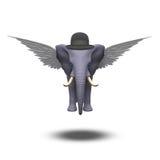 Elefante con alas stock de ilustración