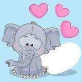 Elefante con i cuori illustrazione di stock