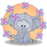 Elefante con i fiori royalty illustrazione gratis