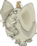 Elefante con il mouse royalty illustrazione gratis