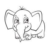Elefante con la banana Immagini Stock Libere da Diritti