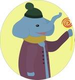 Elefante con la lecca-lecca Immagine Stock