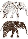 Elefante con los modelos orientales Fotos de archivo libres de regalías