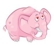 Elefante cor-de-rosa ilustração stock