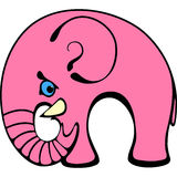 Elefante cor-de-rosa Fotos de Stock Royalty Free