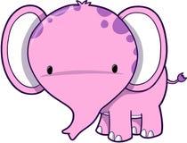 Elefante cor-de-rosa bonito Fotos de Stock Royalty Free