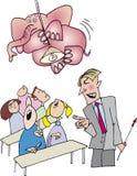 Elefante cor-de-rosa no quarto de classe Imagens de Stock Royalty Free