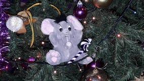 Elefante creativo della decorazione dell'albero di Natale Fotografia Stock Libera da Diritti