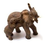 Elefante da cerâmica com vitela do elefante Fotos de Stock Royalty Free