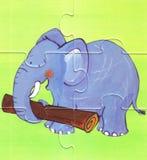Elefante da funzionare Immagini Stock