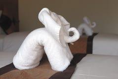 Elefante dai tovaglioli Fotografie Stock
