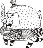 Elefante de Abstact Imagens de Stock Royalty Free