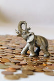 Elefante de bronze Fotografia de Stock