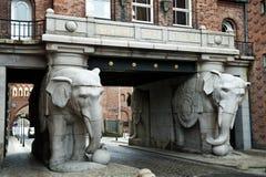 Elefante de Carlsberg Fotos de archivo libres de regalías