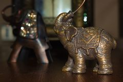 Elefante de cobre amarillo de la India fotografía de archivo libre de regalías