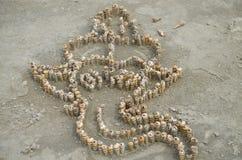 Elefante de conchas de berberecho Fotografía de archivo