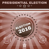 Elefante 2016 de la elección contra bandera del burro Fotografía de archivo libre de regalías