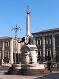 Elefante de la fuente de Catania Imagen de archivo libre de regalías