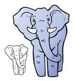Elefante de la historieta Foto de archivo