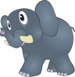 Elefante de la historieta stock de ilustración